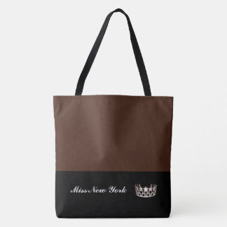Miss USA Silver Crown Tote Bag-LRGE BT Sienna