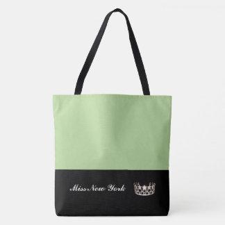 Miss USA Silver Crown Tote Bag-LRGE Honeydew