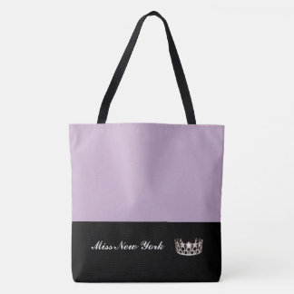 Miss USA Silver Crown Tote Bag-LRGE Lilac
