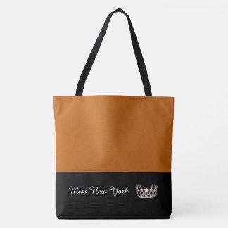 Miss USA Silver Crown Tote Bag-LRGE Pumpkin