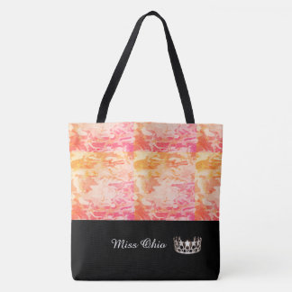 Miss USA Silver Crown Tote Bag  Sunset Camo