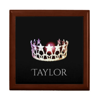 Miss USA SLVR Crown Personal Name Jewerly Box Large Square Gift Box