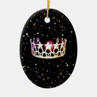 Miss USA State Silver Crown Christmas Ornament