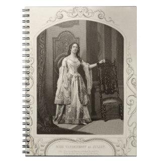 Miss Vandenhoff as Juliet, Act III Scene 1 of 'Rom Notebook