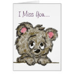Miss You Bear Cub Greeting Card