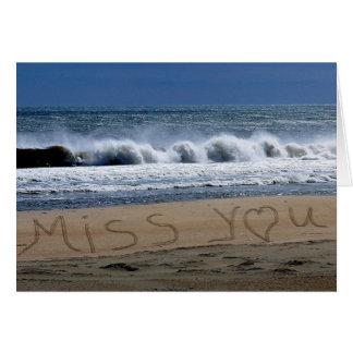 Miss You Card Beach