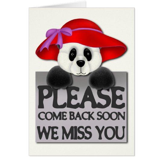 Miss You Panda Card