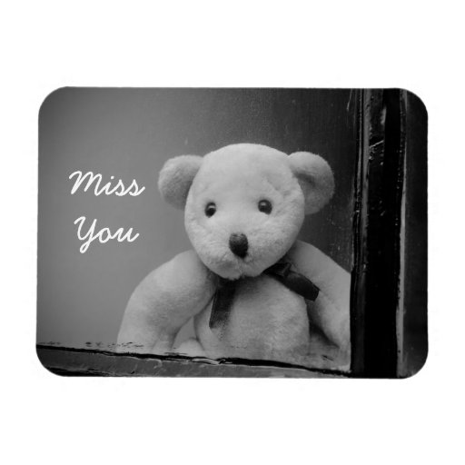 """""""Miss You"""" Photo Magnet"""