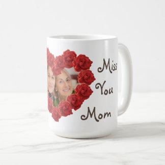 Miss you photo roses mug