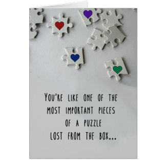 Miss You (Poly) Greeting Card