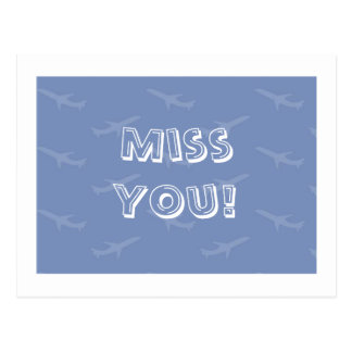 Miss You Postcard