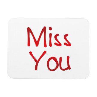 Miss you rectangular photo magnet
