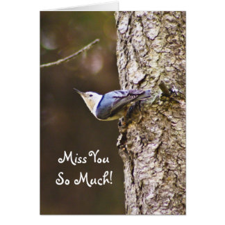 Miss You So Much Woodpecker Card