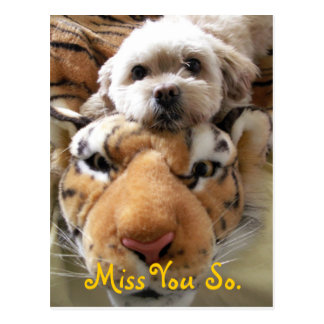 Miss You So. Postcard