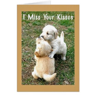 Miss Your Kisses Paper Greeting Card