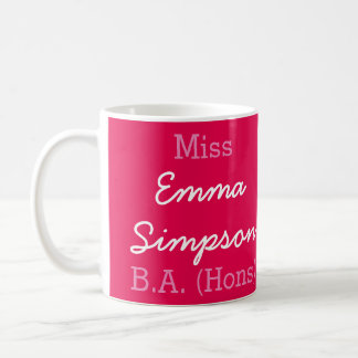 Miss (Your Name) B.A. (Hons) Graduation Mug