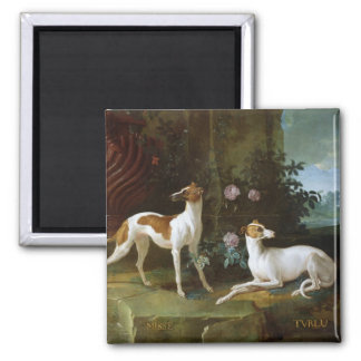 Misse and Turlu, two greyhounds of Louis XV Magnet