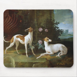 Misse and Turlu, two greyhounds of Louis XV Mouse Mat