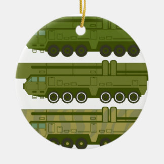 Missile carrier vector christmas ornament