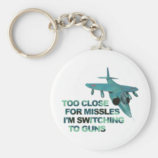 Missiles Switch Guns Basic Round Button Key Ring