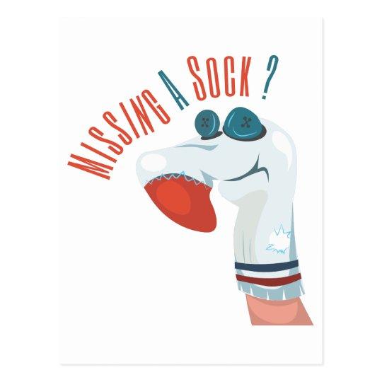 Missing A Sock? Postcard