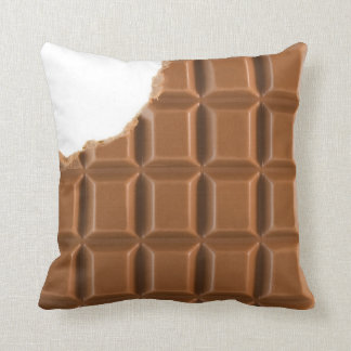 Missing bite chocolate bar pillow cushions