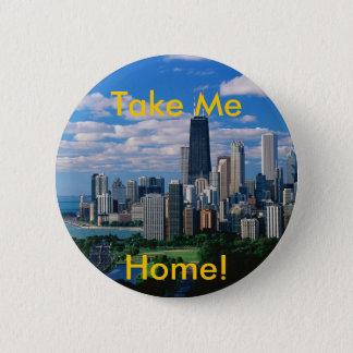 Missing Chicago 6 Cm Round Badge