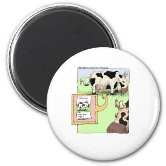 Missing Cow Funny Cartoon Gifts & Collectibles 6 Cm Round Magnet