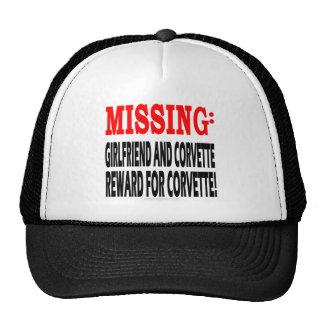 Missing Girlfriend & Corvette Reward for Corvette Trucker Hats