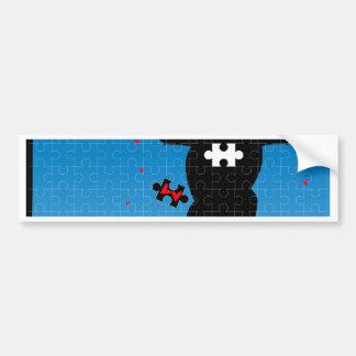 Missing Heart Bumper Sticker