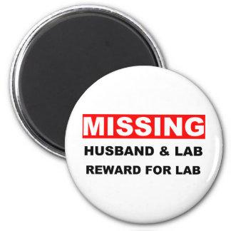 Missing Husband Lab Fridge Magnets