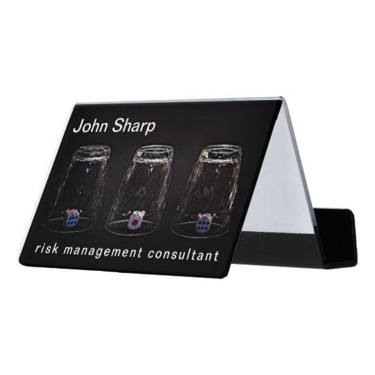 Missing Impossible Risk Management funny Desk Business Card