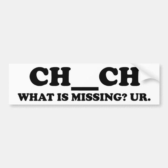 Missing In Church Bumper Sticker