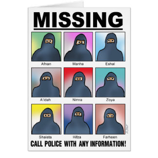 Missing Muslims Greeting Cards
