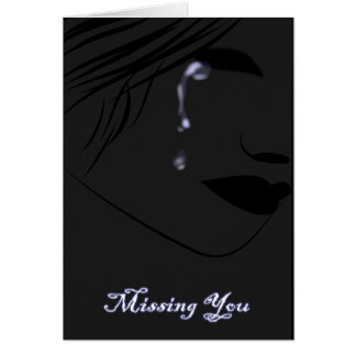 """Missing My Love On Valentine""""s Greeting Card"""