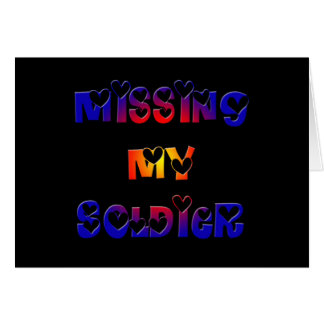 Missing my Soldier Card