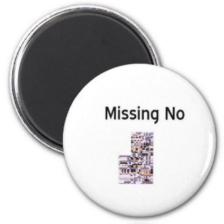 Missing No Product 6 Cm Round Magnet