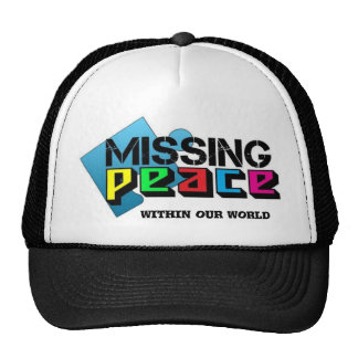 missing peace within our world cap
