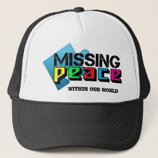 missing peace within our world trucker hat