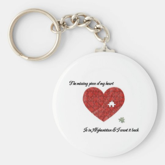 Missing Piece Afghanistan Basic Round Button Key Ring