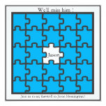 Missing piece- farewell party invitations