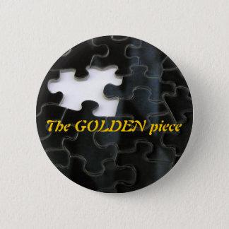 Missing Puzzle Piece 6 Cm Round Badge