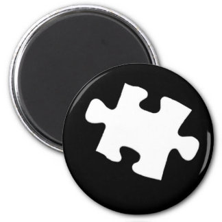 Missing Puzzle Piece 6 Cm Round Magnet