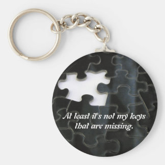 Missing Puzzle Piece Key Ring