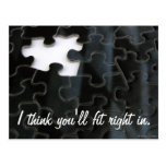 Missing Puzzle Piece Postcard