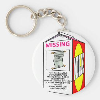 Missing US Constitution Key Chain