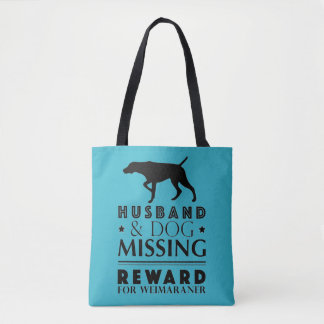 MISSING WEIMARANER ALL-OVER-PRINT TOTE BAG