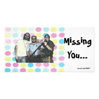 Missing You - 60's Customised Photo Card