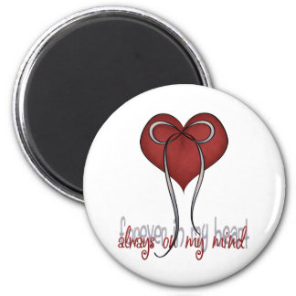 Missing You 6 Cm Round Magnet