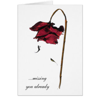 Missing you already greeting card